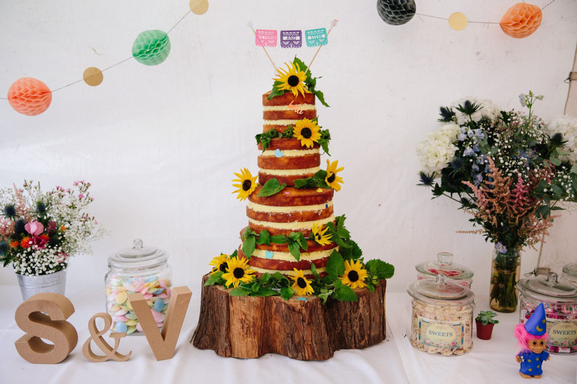Fee Turner naked wedding cake polenta