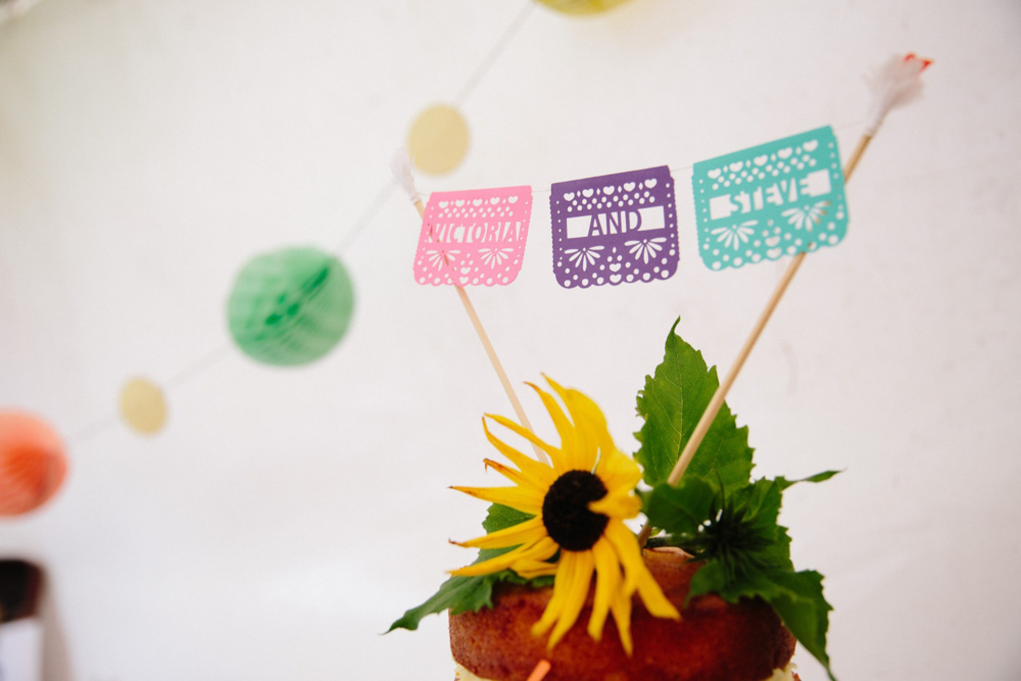 Papel picado cake topper from Etsy