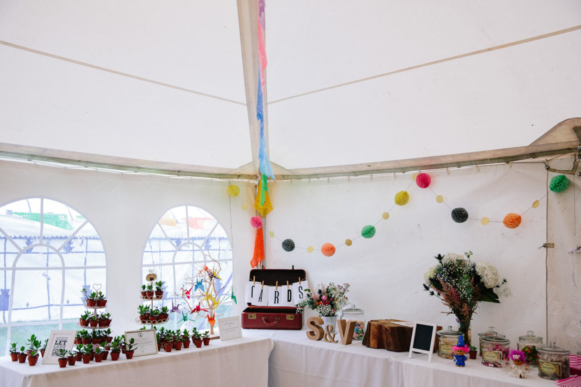 Table for cards and wedding favours