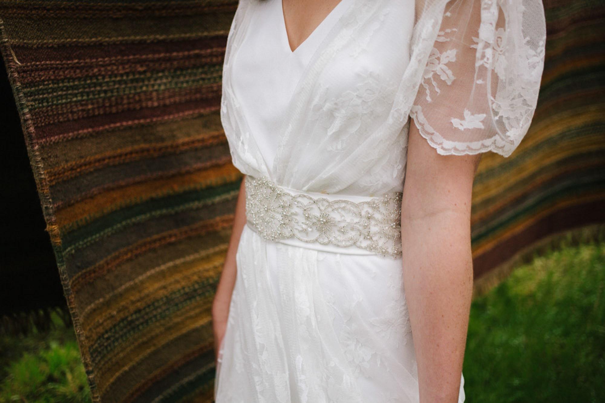 Charlie Brear Voulaire wedding dress