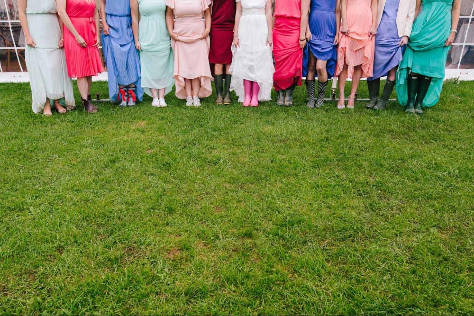 Colourful bridesmaids