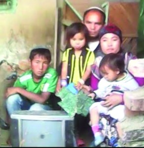 Aviel Thouthang and his family