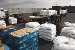 Tons of aid are transported into Gaza daily.