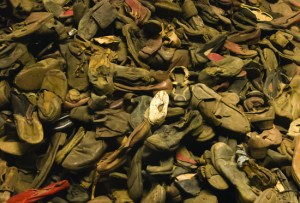AUSCHWITZ, POLAND - AUGUST 24: Exhibition of the remaining belongings (shoes) of the people killed in Auschwitz,a former Nazi extermination camp, on August 24, 2013 in Oswiecim, Poland