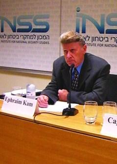 Dr. Ephraim Kam, Deputy Head of the Institute for National Security Studies, and Dr. Çagri Erhan, Vice-President of the Center for Eurasian Strategic Studies (Ankara)
