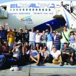 New immigrants at the Israeli airport, 2007 December