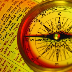 How can we know the way? Jesus said, I am the way the truth and the life..... A compass points to Jesus and the popular New Testament bible verse John 14:6 Focus to verse 6.