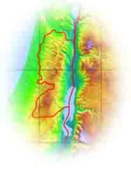 Topographical map of Israel