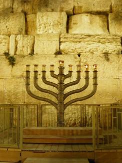 Hanukkiyah At The Western Wall