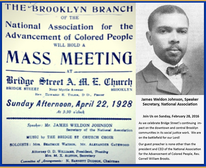 James Weldon Johnson Visits Bridgestreet