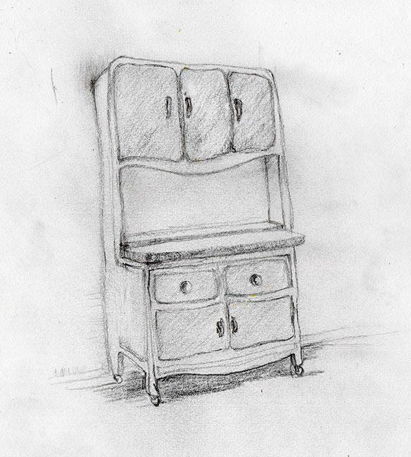 Kitchen hoosier cabinet