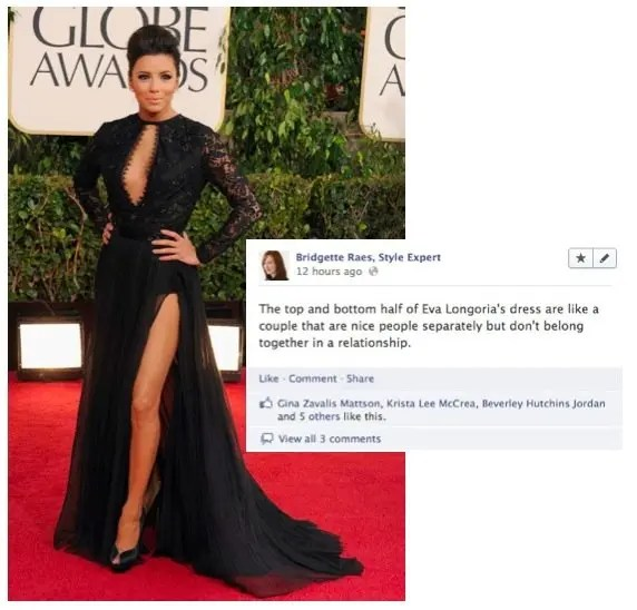 Eva Longoria Golden Globes Fashion
