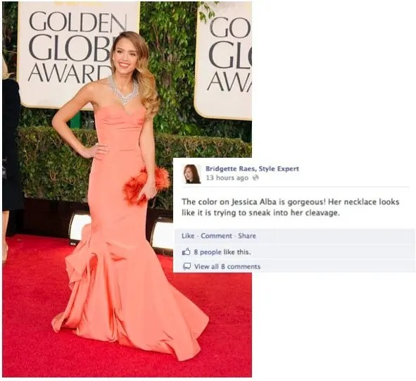 Jessica Alba 2013 Golden Globes Fashion