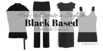 black based wardrobe capsule
