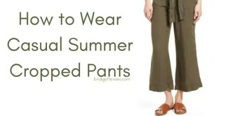 Casual Summer Cropped Pants