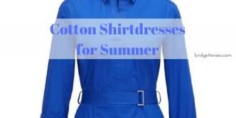 cotton shirtdresses