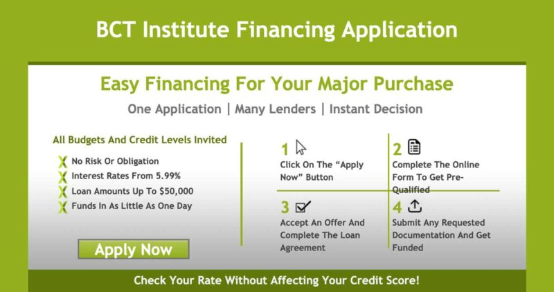 FlexxBuy Financing with BCT Institute