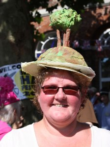 2nd Prize of £50 went to Louise Braddock for her Colmer's Hill headgear