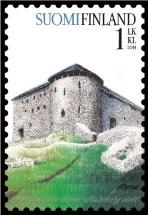 Die Raseborg auf finnischer Briefmarke
