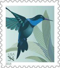 Kolibri auf Sondermarke der USA