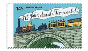 Ab 3. April in zwei Konfektionierungsformen erhältlich: die Marke zum Eisenbahnjubiläum.