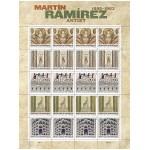Kunst von Martin Ramirez auf Briefmarken