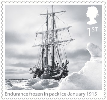 Britische Antarktis Briefmarke Expedition