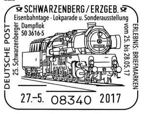 Sonderstempel Eisenbahntage Schwarzenberg