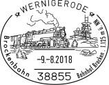 Ganzsache Harz Wernigerode Dampflok Schmalspurbahn
