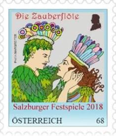 Salzburger Festspiele 2018 Ganzsache Zauberfloete Mozart