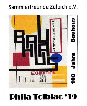 Zudruck Briefmarkenfreunde Zülpich Bauhaus Plakat