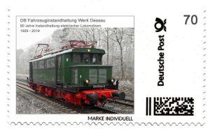 Briefmarke Individuell 90 Jahre Bahnausbesserungswerk