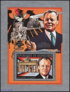 Briefmarke Guinea Willy Brandt