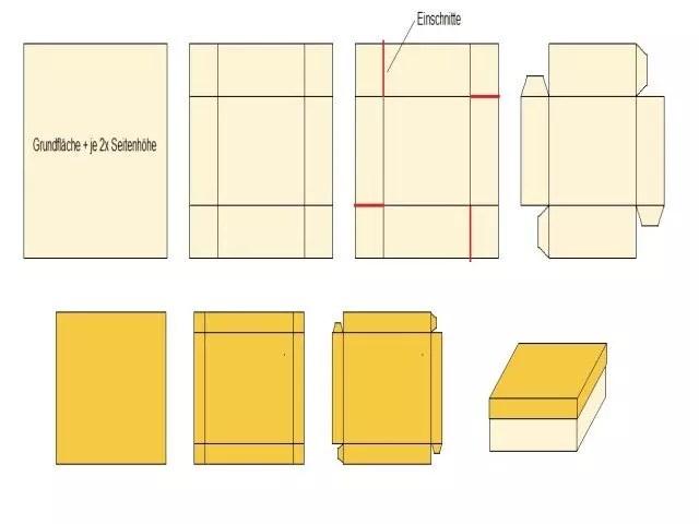anleitung zum basteln von schachteln. Black Bedroom Furniture Sets. Home Design Ideas