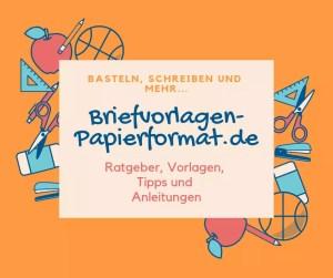 Briefvorlagen Papierformat Vorlagen Basteln Und Anleitungen