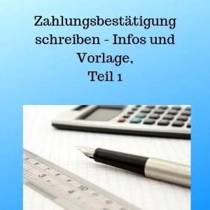 Zahlungsbestätigung Schreiben Infos Und Vorlage Teil 1