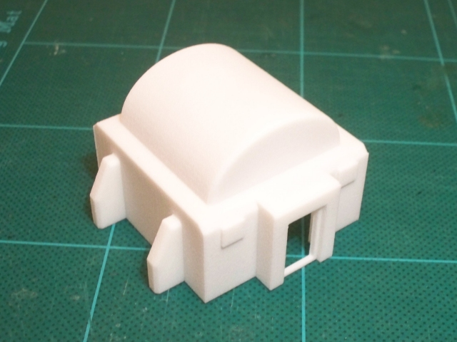 Outhouse with vaulted roof