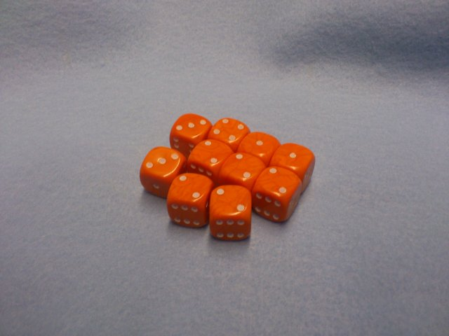 Orange 6-sided dice