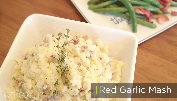 Red garlic mash potatoes for a holiday meal #shop