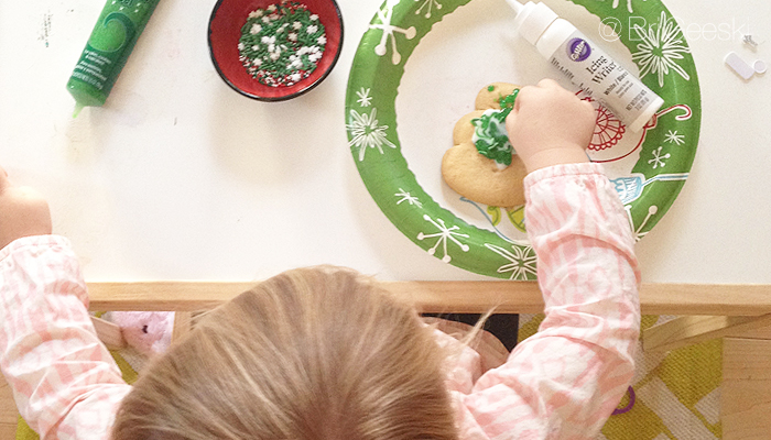 Toddler Baking and Decorating Cookies