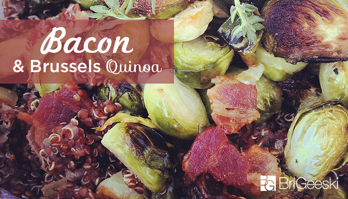 Bacon and Brussels Quinoa
