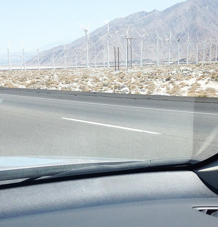 wind mills heading to La Quinta