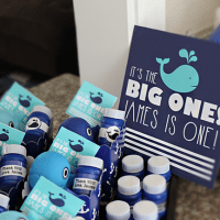 Whale Themed First Birthday Party