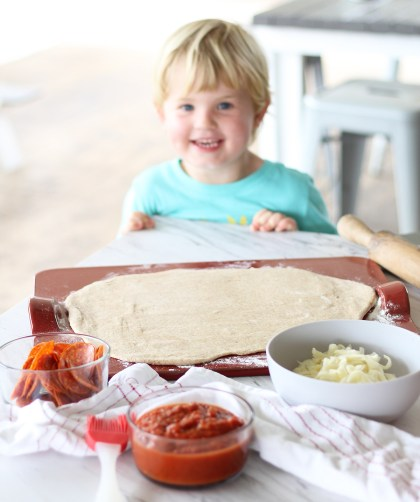 make homemade pizza with the kids