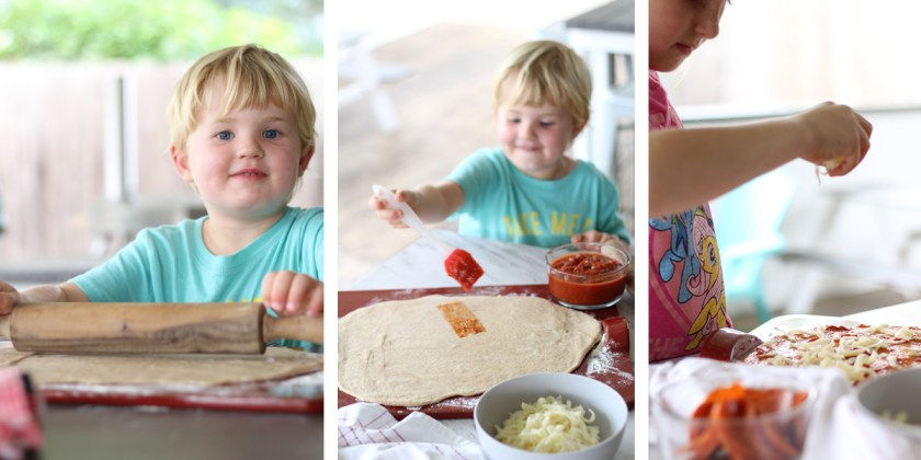 make pizza with the kids