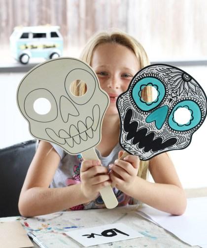 Make these! DIY Dia De Los Muertos Skull Masks