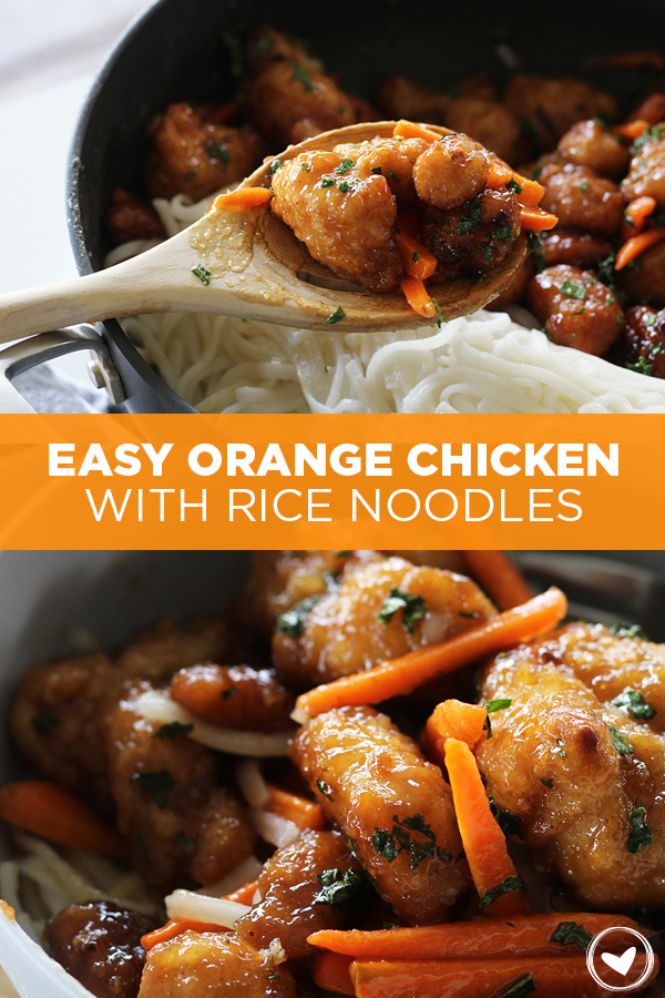 Make this: Easy Orange Chicken With Rice Noodles