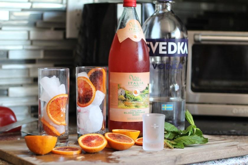 Italian Blood Orange Vodka Soda