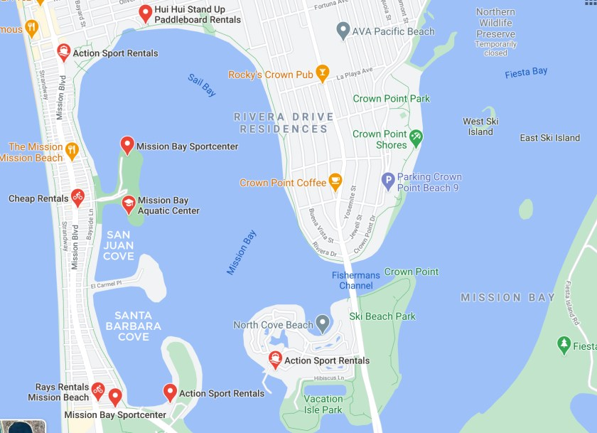 Where to Paddleboard in Mission Bay