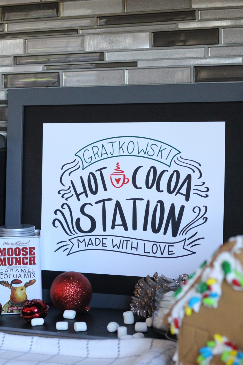 Custom Hot Cocoa Station Sign